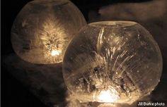 DIY Ice Globe Light by alaskadispatch. Photo by Jill Burke. #DIY #Ice_Globe_Light