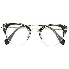 7dd8290de3 Miu Miu Eyewear cat eye glasses ( 351) ❤ liked on Polyvore featuring  accessories
