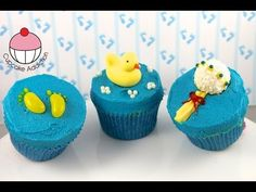 Make Simple Baby Shower Cupcakes! - Learn how to make these delicious treats, and heaps more at Mycupcakeaddiction!