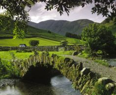 Medieval Bridge, Lake District, England