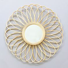 Bamboo and rattan mirror - Cassandre