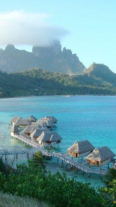 gorgeous Bora Bora, Tahiti My dream vacation Vacation Places, Vacation Destinations, Dream Vacations, Vacation Spots, Places To Travel, Places Around The World, Oh The Places You'll Go, Places To Visit, Bora Bora