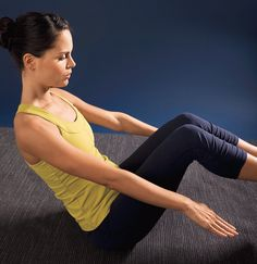 6 Easy Exercises to Strengthen Your Core, Pilates Inspired. Complete the workout three to four times a week to make the most of your midsection. Fitness Diet, Fitness Motivation, Health Fitness, Workout Fitness, Easy Fitness, 15 Minute Workout, Workout Guide, Easy Workouts, Get In Shape
