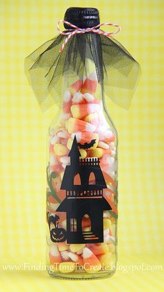 Halloween-treat-bottle  Cutting file for Cameo at http://paperpulse.blogspot.com/2012/09/haunted-house-cutting-file.html