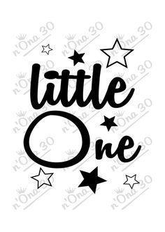 LITTLE ONE design file for Silhouette or other cutting por Nona30