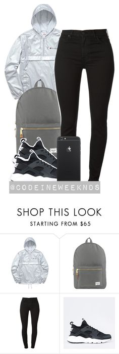 """""""5/10/16"""" by codeineweeknds ❤ liked on Polyvore featuring Champion and Herschel Supply Co."""