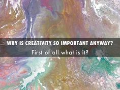 """WHY IS CREATIVITY SO IMPORTANTANYWAY?"" - A Haiku Deck #setyourstoryfree"
