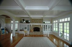 Ceiling Beam Designs | Here is a 10 ceiling with beams at 9 ft in stained and painted . A ...