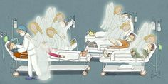 Bóg polecił jej rysować anioły dla chorych na koronawirusa i ich lekarzy Catholic Art, Religious Art, Jesus Painting, Illustrations, Instagram, Christian, Respect, Sticker, Printable