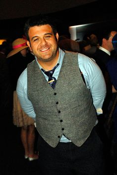 Adam Richman from Man v. Food...rocking the,waistcoat!
