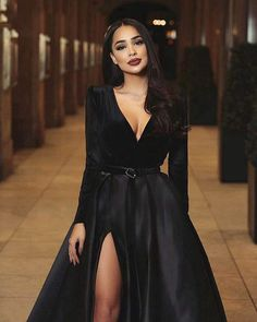 evening dresses with sleeves evening dresses . evening dresses plus size . evening dresses with sleeves . evening dresses for weddings Long Sleeve Evening Dresses, Prom Dresses Long With Sleeves, Ball Dresses, Evening Gowns, Ball Gowns, Long Sleeve Formal Dress, Split Prom Dresses, Black Evening Dresses, Wrap Dresses