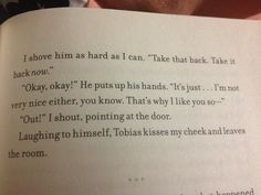 Probably one of my favorite parts! =) ~Divergent~ ~Insurgent~ ~Allegiant~