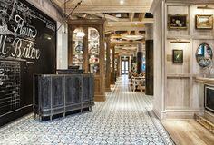 Esra Tasdemir - Cluny Restaurant - Branding Design - Typography - Hand done - Pattern Design Restaurant Branding, Cafe Restaurant, Restaurant Design, Typography Design, Branding Design, French Rococo, French Restaurants, French Bistro, Rustic French