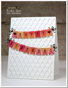 Paper Therapy: Avery Elle–Happy Birthday Bunting!