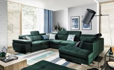 Reduceri nebune Couch, Living Room, Furniture, Home Decor, Houses, Google Search, House Decorations, Home, Green Sofa