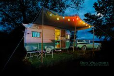 """""""Lucy"""" trailer at the Starlite Classic Campground in Colorado. You can stay in this trailer as well as many more."""