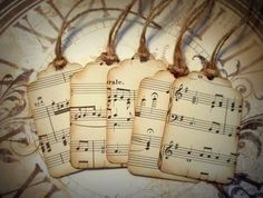 vintage music paper....tags  http://www.etsy.com/shop/alneff