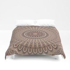 Cappuccino Mandala Duvet Cover by David Zydd #decor #society6art #giftidea #graphic