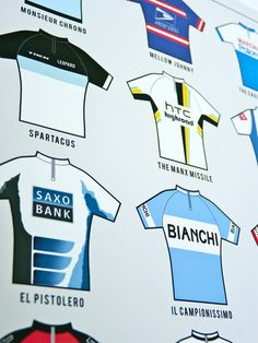 Infografía 'Apodos del pelotón' de ciclismo por TheHandmadeCyclist