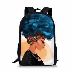 SARA NELL Messenger Bag,african Women Love New York,Unisex Shoulder Backpack Cross-body Sling Bag