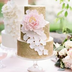 Cakes - Belle the Magazine . The Wedding Blog For The Sophisticated Bride gold