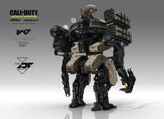 I've already spoken a little of my love for this game's art design, but today I'm going to showcase a much wider range of work from a team of artists who worked on Call of Duty: Infinite Warfare. Cod Infinite Warfare, Cyberpunk, Military Robot, Call Of Duty Infinite, Advanced Warfare, Arte Robot, Sci Fi Weapons, Robot Concept Art, Robot Design