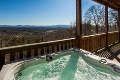 """""""Absolutely Fav-View-Lous"""" stands up to it's name! Blue Ridge Georgia, Incredible Mountain Views from every room! Blue Ridge Georgia, Cabin Rentals, Mountain View, Oasis, Hiking, The Incredibles, River, Vacation, Activities"""