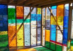 Plexiglas House Morning Interior - Northeast Corner