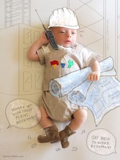 baby photos with drawings over them
