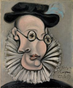 Picasso- Retrato de Jaime Sabartés / (Sabartés rencontre Picasso à Barcelone au cabaret Els Quatre Gats peu avant 1900. Poète, il deviendra rapidement un de ses plus intimes amis puis son secrétaire particulier durant plus de 50 ans.)
