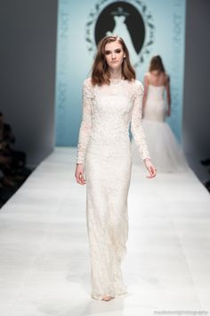 Long Sleeve Wedding Dress (Style #PB251) - Dream Dresses by P.M.N - 1