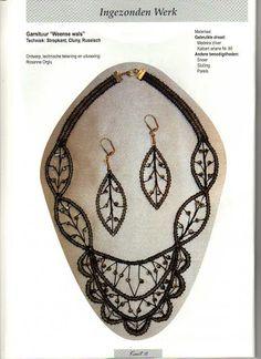 JOYAS DE BOLILLOS - Almu Martin - Picasa Webalbums Lace Patterns, Jewelry Patterns, Crochet Patterns, Lace Earrings, Lace Jewelry, Crochet Jewellery, Needle Lace, Bobbin Lace, Lacemaking