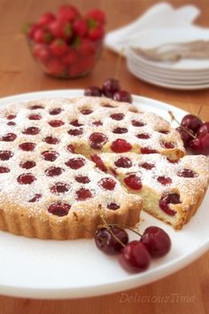 Łatwe ciasto z czereśniami