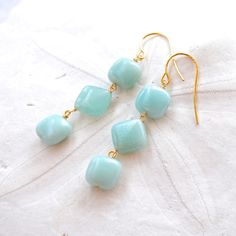 Amazonite Dangle Earrings Edisto Collection by laurenamosdesigns, $24.00#Repin By:Pinterest++ for iPad#