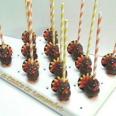 Turkey cake pops ...Original design by A Taste To Remember