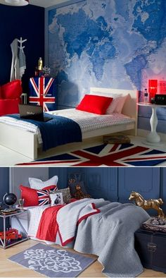 DIY Flag Themed Kids Bedrooms