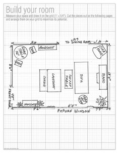 Free printable furniture templates furniture template for Room planning grid