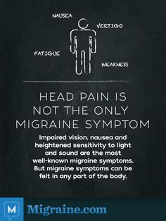 Head Pain is not the only migraine symptom