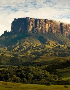 Mount Roraima in Venezuela, Brazil, and Guyana