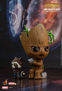 Hot Toys: Avengers: Infinity War - Cosbaby (S) Bobble-Head Cosbaby (S) Bobble-H . Cute Disney Wallpaper, Cute Cartoon Wallpapers, Cute Disney Drawings, Cute Drawings, Baby Groot Drawing, Thanos Avengers, Kawaii Disney, Marvel Drawings, Avengers Wallpaper