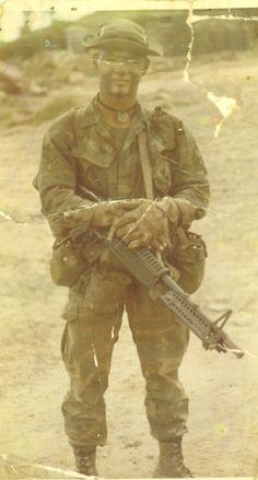 US Army Ranger with M60 machine gun, 1972