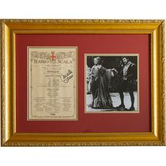 Placido Domingo and Mirella Freni signed this program from their 1987 La Scala appearance in Verdi's Otello, and is framed with a photo of the two opera stars. It's one of the opera collectibles at the Met Opera Shop. http://www.metoperashop.org/shop/plcido-domingo-and-mirella-freni-signed-photograph-and-program-11994