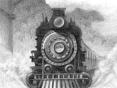 Illustration from The Invention of Hugo Cabret