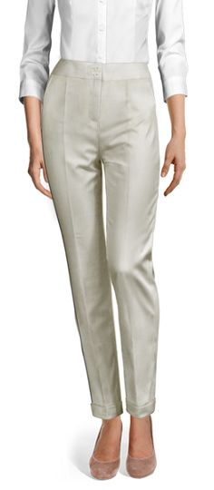 Design your Custom Made to Measure womens dress pants at Sumissura. High waist or normal, Pleated, slim fit or wide-leg, wool or linen pants. Discover the luxury of Made to Measure at an Affordable price Cuffed Pants, Khaki Pants, Ankle Length Pants, Linen Pants, Dress Pants, Custom Made, Capri Pants, Slim, Fitness