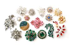 Vintage rhinestone brooches are the perfect spark to add to any look! Head to Sweet & Spark for a wonderfully curated collection for the season!