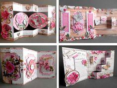Fabriquer des cartes  Voici un bloc de papiers bien pratique car il contient tous les éléments (fond de carte et ornements en papier) pour réaliser une très jolie carte
