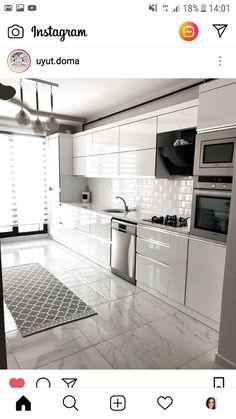 Kitchen Room Design, Kitchen Cabinet Design, Modern Kitchen Design, Home Decor Kitchen, Interior Design Kitchen, Home Kitchens, Kitchen Ideas, Modern Design, Interior Modern