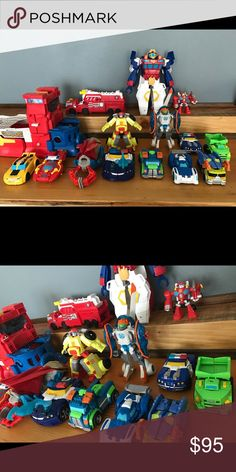 Lot/bundle of Rescue Bots/Transformers We bought these all brand new for over $200 and they are in good condition (some may have a little dirt). This is a great deal if you have a kiddo into these. The boat alone was over $20. From a non-smoking home. hasbro Other