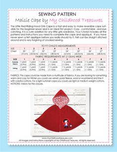 Girls sewing pattern pdf childrens sewing pattern Costume