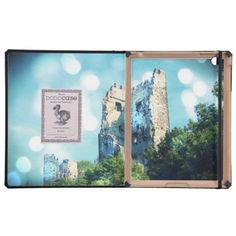 Sparkling Blue Fairytale Castle Ruin Case For iPad from Zazzle.com